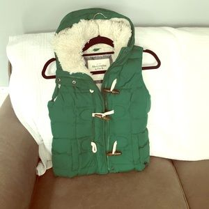 Abercrombie & Fitch Green Down fill Vest.